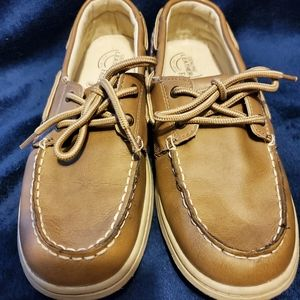 Faded glory leather boat shoes